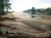 Die Weser bei Bremen - ursprünglich eine flache Sandaue.